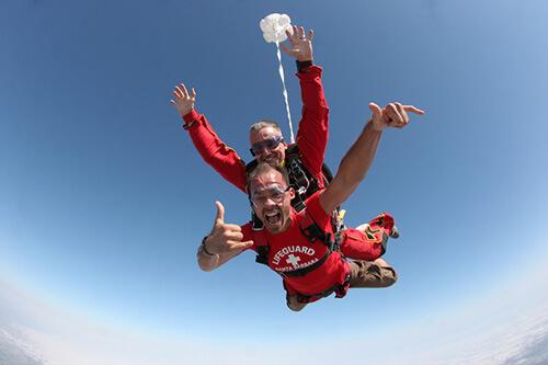 saut en parachute 60